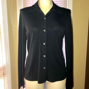 JCREW Long Sleeve Button Blouse w/collar